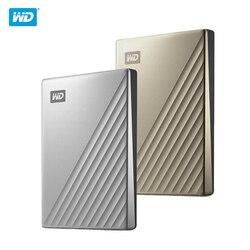 Original WD 4TB 2TB 1TB disco duro externo HDD 2,5 Disco duro Western Digital tipo C mi pasaporte Ultra cifrado WD HDD