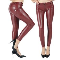 Melody блестящие кожаные штаны, четыре способа растягивания, женские штаны, полная длина, теплые, подтяжка ягодиц, компрессионная одежда, женск...