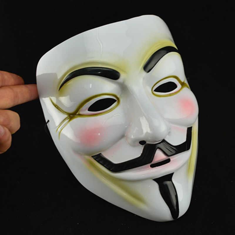 Złoty srebrny Halloween V na maska vendetta rekwizyty motyw filmowy V maska akcesoria kostiumowe dla dorosłych rekwizyty do przebrania na imprezę