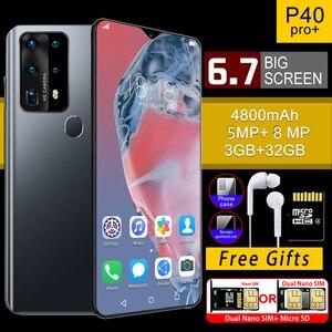SOYES P40 Pro мобильные телефоны Android 6,7 дюймов 3 ГБ ОЗУ 32 Гб ПЗУ смартфоны глобальная версия капли воды экран 4800 мАч сотовый телефон