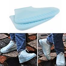 Силиконовая перерабатываемая Нескользящая моющаяся обувь унисекс Крышка Для водонепроницаемого непромокаемого, необходимые для наружного дождя защитные принадлежности