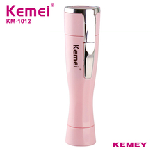 Kemei Mini Electric Ladies Epilator Razor Female Portable for Underarm Body Facial Travel Essentials KM-1012