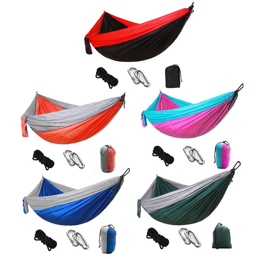 Hammock Camping Survival Swing Sleeping Bed for 2 Person Hunting Travel Indoor Garden Hammocks Bed|Hammocks| - AliExpress