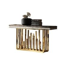Натуральный Мрамор нержавеющая сталь журнальный столик гостиная есть край ковчег минималистский современный прямоугольный стол