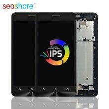 ASUS Zenfone 5 Lite A502CG T00K LCD 터치 스크린 디지타이저 어셈블리, Asus a502cg 디스플레이, 프레임 교체 용
