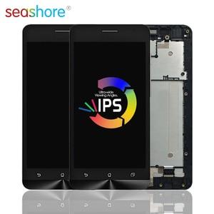 Image 1 - Originele Voor Asus Zenfone 5 Lite A502CG T00K Lcd Touch Screen Digitizer Vergadering Voor Asus A502cg Display Met Frame Vervanging