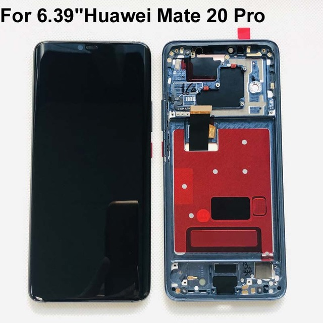 شاشة LCD تعمل باللمس مع الهيكل وبصمة الإصبع ، ضمان أصلي 100% لهاتف Huawei Mate 20 Pro mate 20 pro
