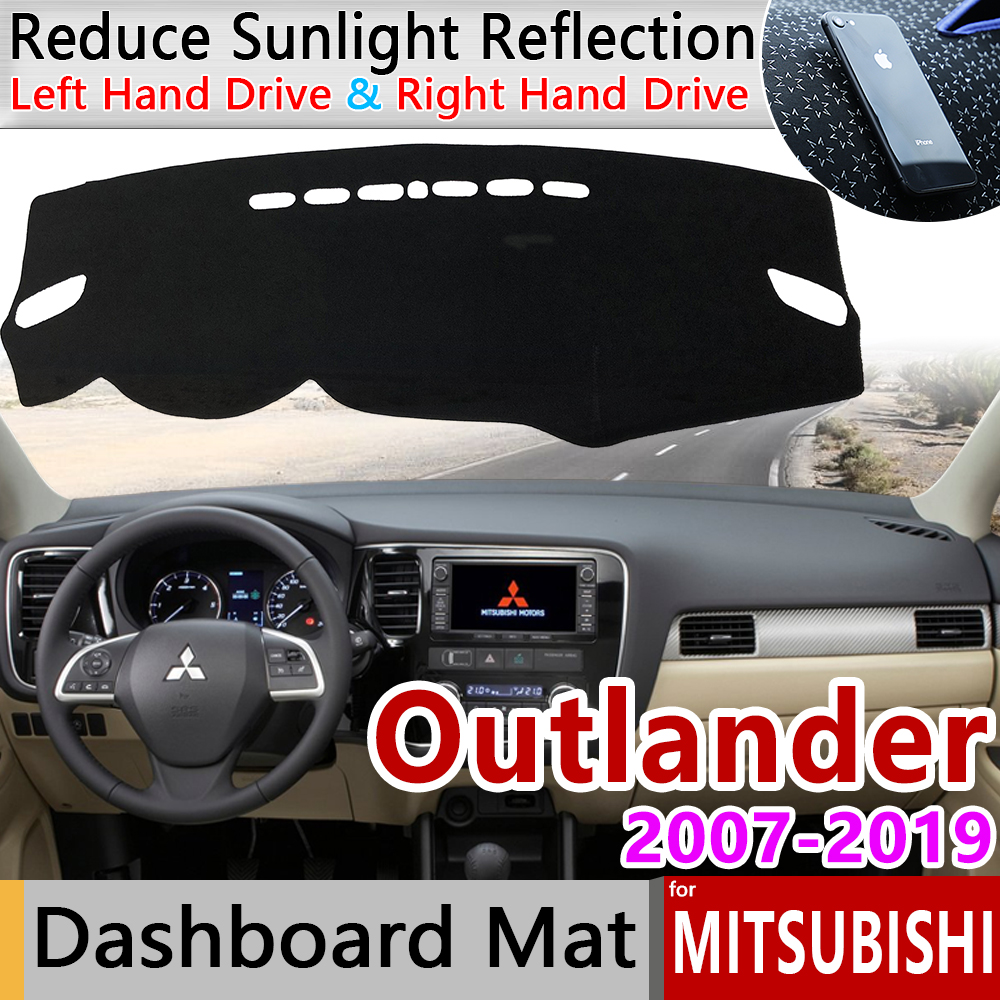 for Mitsubishi Outlander 2007 2019 2nd 3rd Gen Anti-Slip Mat Dashboard Cover Pad Sunshade Dashmat Dash Car Carpet Accessories
