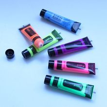 6pcs Body Art Painting Pigment Neon Fluorescent Halloween Party Festival Cosplay