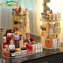 1PC 360 Grad Rotation Transparent Kosmetik Acryl Lagerung Box Spin Multi-funktion Abnehmbare Make-Up Schönheit Schublade Veranstalter