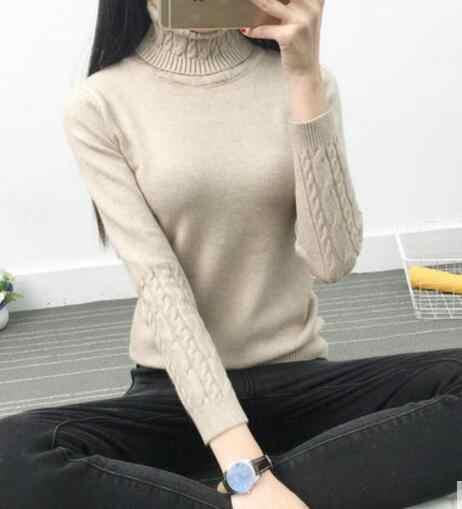 2019 ขายใหม่เสื้อกันหนาวผู้หญิงฤดูหนาวเสื้อแขนยาวถักเสื้อกันหนาวและ Pullovers จัมเปอร์ Tricot Tops Ly571