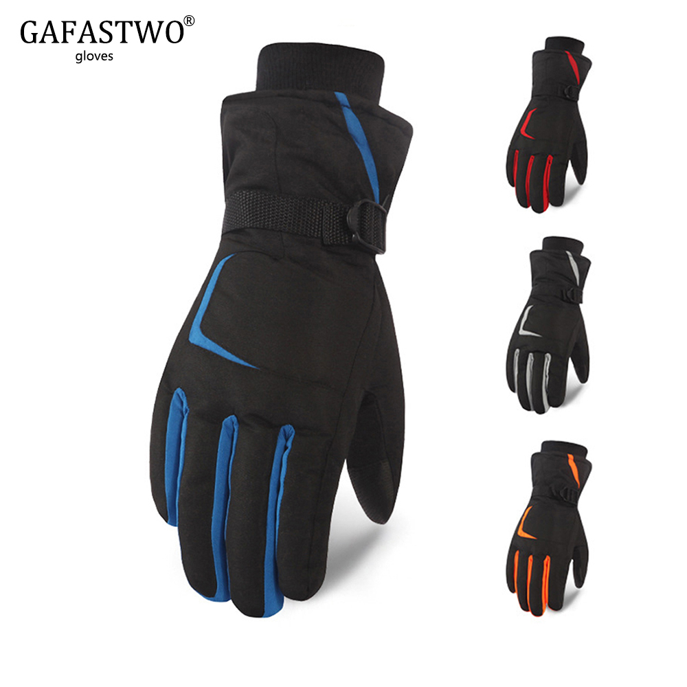 New Winter Warm Thick Coldproof Winter Ski Gloves Men And Women Touch Screen Waterproof Windproof Outdoor Riding Cotton Gloves