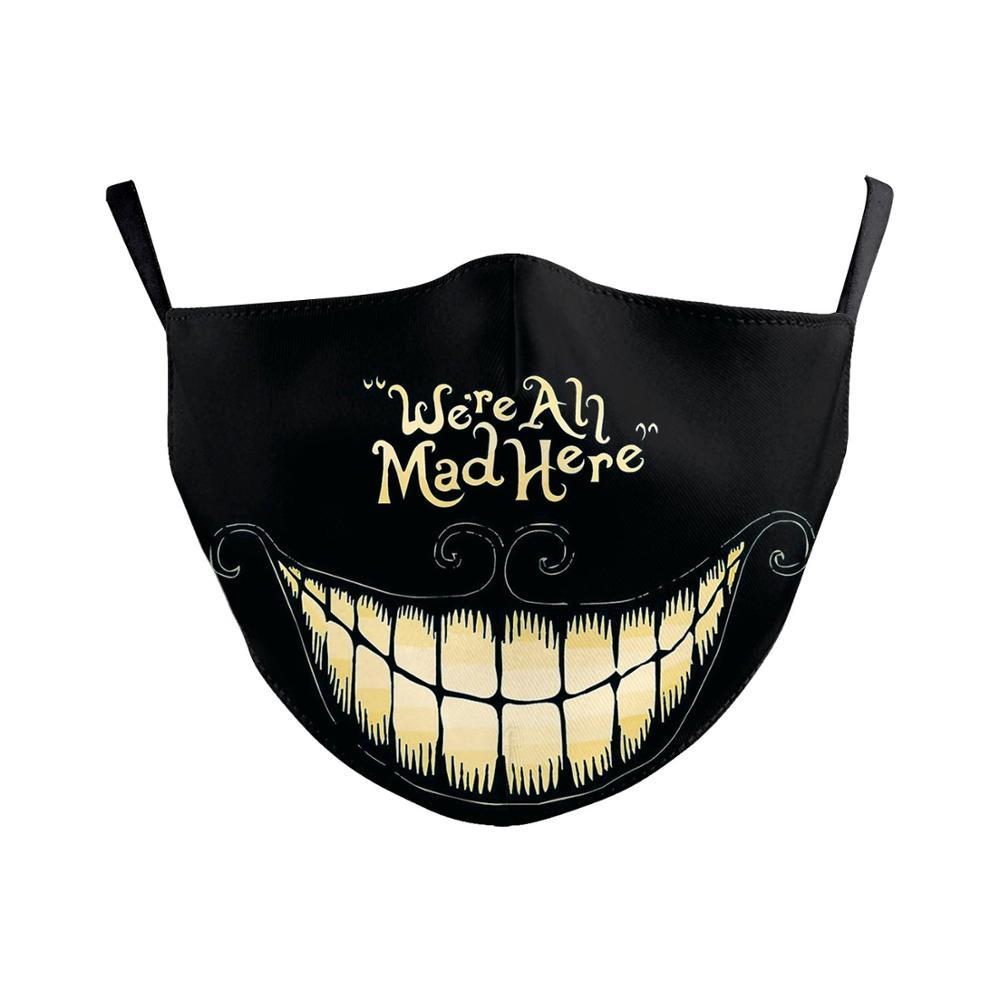 Washable Big Mouth Skull Face Masks 3
