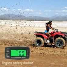 デジタル液晶タコアワーメーター温度計温度ーメータガスエンジンオートバイ海洋ジェットボートバギートラクターピットバイクパラモーター