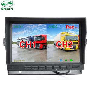 HD 1024*600 7 Inch IPS Screen 2 Channels Truck Bus Car DVR Recorder AHD Video Monitor For AHD Recording Parking Camera(China)