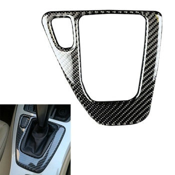 1pc car gear shift panel sticker automotive car carbon fiber styling decorative durable decal for audi a4l q5 a5 1Pc New Car Gear Shift Panel Knob Cover Carbon Fiber Decal Car Auto Shift Box Panel Cover For BMW E90 E92 E93 Interior