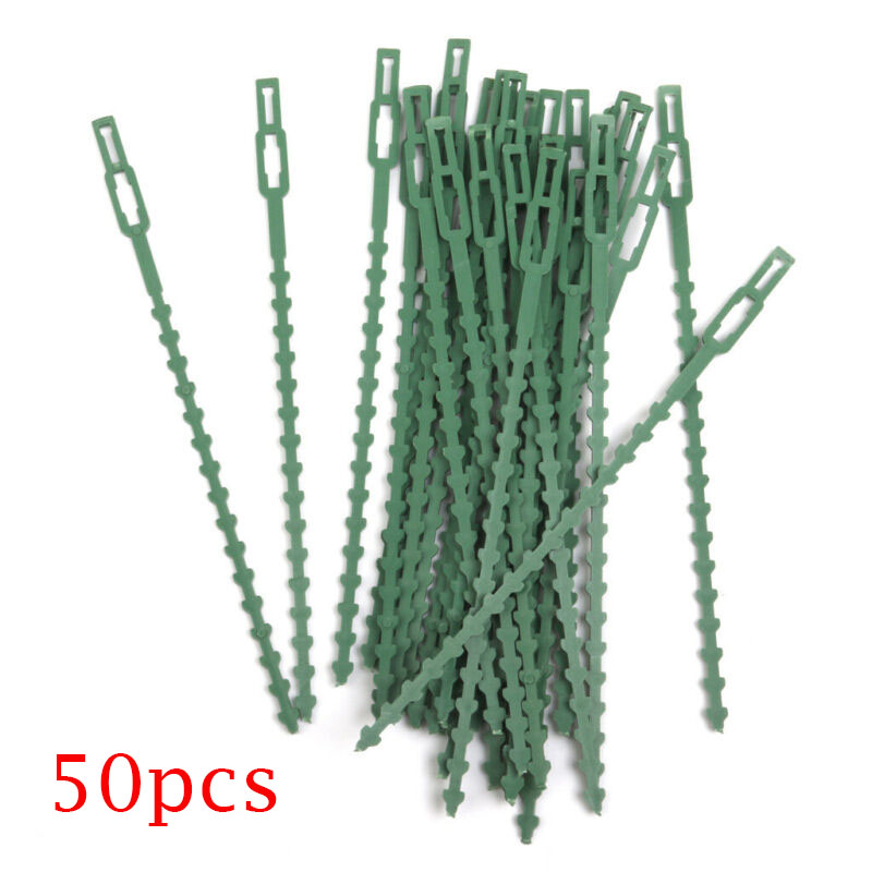 30/50pcs Green Gardening Vine Climbing Plants Cable Tie Lines Plant Brackets Parts Bonsai Flower Cucumber Grape Rattan Supports