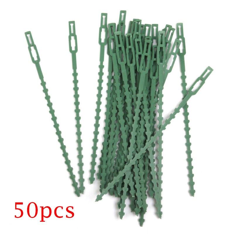 30/50pcs Green Gardening Vine Climbing Plants Cable Tie Lines Plant Brackets Parts Bonsai Flower Cucumber Grape Rattan Supports