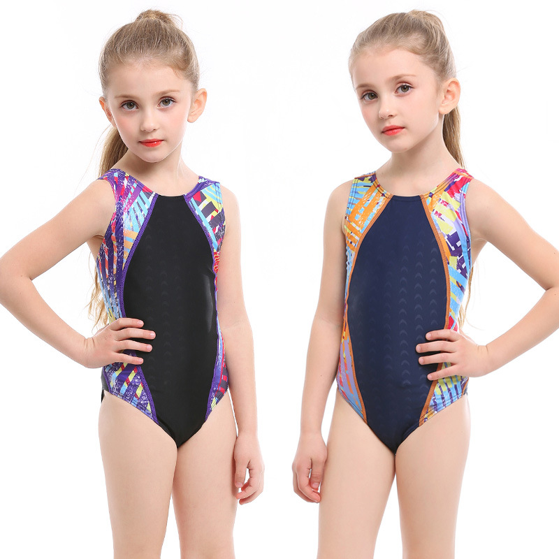 Children Industry Bathing Suit Teenager Tour Bathing Suit Big Virgin Girls Learn Swimming Training Triangular One-piece Swimming