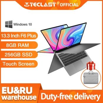 Teclast F6 Plus Laptop 13.3 Inch Notebook 8GB RAM 256GB ROM 360 Degree Rotation 1920×1080 Full HD Windows 10 OS 38000mWh Battery