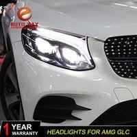 Benz AMG GLC 2017 2019 led car lights Angel eyes ALL LED KIT Fog lights LED Daytime Running Lights