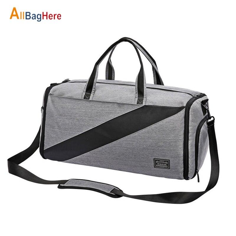 Portable Luxury Suit Storage Bag Men Sport Fitness Business Travel Duffel Bag Large Capacity Dry Wet Separation Shoulder Handbag|Gym Bags|   - title=