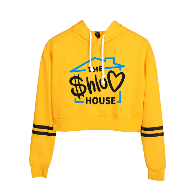 THE SHLUV HOUSE THEMED CROP TOP HOODIE (25 VARIAN)