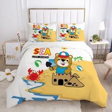 Cartoon pościel dla chłopców zestaw dla dzieci łóżeczko dziecięce kołdra zestaw poszewek poszewka na poduszkę pojedyncze 140*200 Little bear tanie tanio Olrynns Brak Zestawy poszew na kołdry mikrofibra 1 0 m (3 3 stóp) 1 35 m (4 5 stóp) 1 5 m (5 stóp) 1 2 m (4 stóp) 1 8 m (6 stóp)