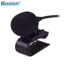 Специальный автомобиль аудио Микрофон 3,5 мм штекер стерео микрофон мини проводной внешний автомобильный микрофон для авто DVD 3 метров в длин...