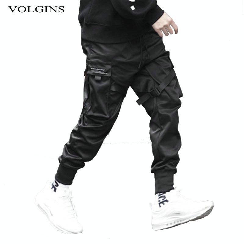 2020 Men Multi-pocket Harem Hip Hop Pants Trousers Streetwear Sweatpants Hombre Male Casual Fashion Cargo Pants Men