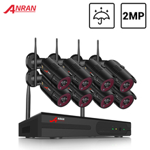 ANRAN CCTV System Wireless 1080P NVR With 2.0MP Outdoor Waterproof Wifi Security Camera System Night Vision Surveillance Kit