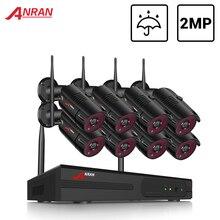 ANRAN Sistema de CCTV inalámbrico 1080P NVR, con cámara de 2.0MP para exteriores, impermeable, Wifi, sistema de cámaras de seguridad, Kit de vigilancia de visión nocturna