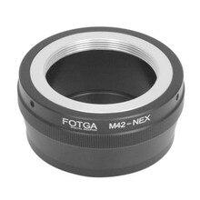 FOTGA Objektiv Adapter für Metall M42 zu Sony E Mount NEX3 NEX5 NEX6 NEX7 A7 A7R A7S A6000 Kameras