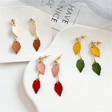 2019 earrings for women Geometric long girl exquisite fashion Resin Birthday party