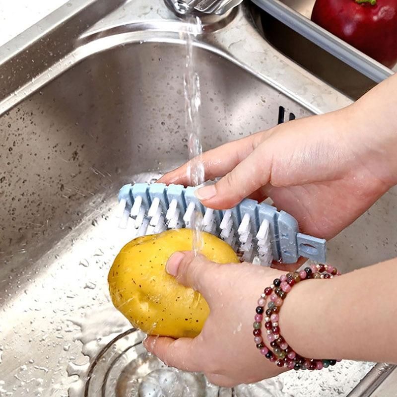 Пластиковая губка для посуды, силиконовая щетка для чистки, многофункциональная щетка для овощей, легкая Чистящая Щетка для картофеля