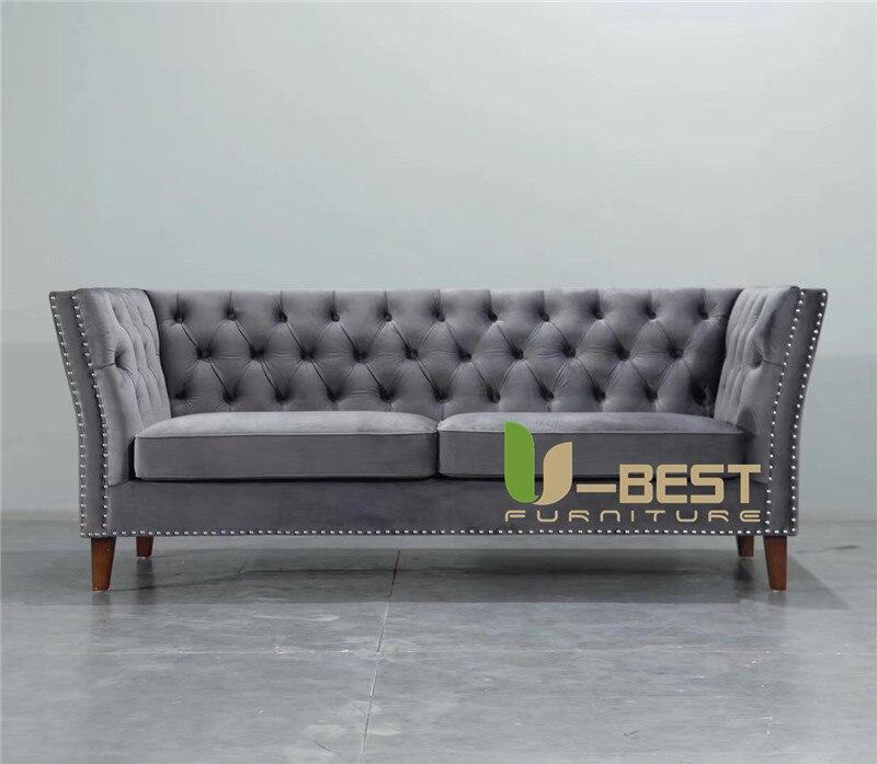 U-BEST furniture newest Fabric living room sofa Velvet designer sofa (1)
