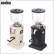 XEOLEO المنزلية مطحنة بن كهربائية 1.5L اسبريسو مطحنة القهوة 350 واط شقة المشواة القهوة ميلر قابل للتعديل الخشنة غرامة
