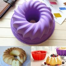 Large Swirl Silicone Cake Round Shape 3D Mold Bread Pan Layered Baking Pans Bakeware Kitchen Tool