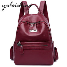 Women Backpack chool Bag For Teenager Girls Travel Back pack  Female Leather Rucksack  Sac A Dos Preppy Mochilas lady Backpack menghuo women waterproof nylon backpack female rucksack school backpack for girls fashion travel bag bolsas mochilas sac a dos