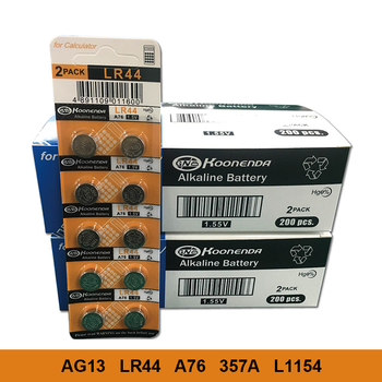 AG13 20PCS Alkaline Button Batteries LR44 357 357A A76 L1154 GPA76 Button cell AG 13 1.55V For Watch Electronic Remote image