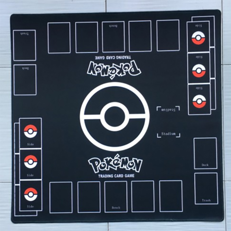 Takara Tomy PTCG Accessories Pokemon Playmate Card Table Game Duet Battle Arean Pink Green Black Blue Pad Toys For Children