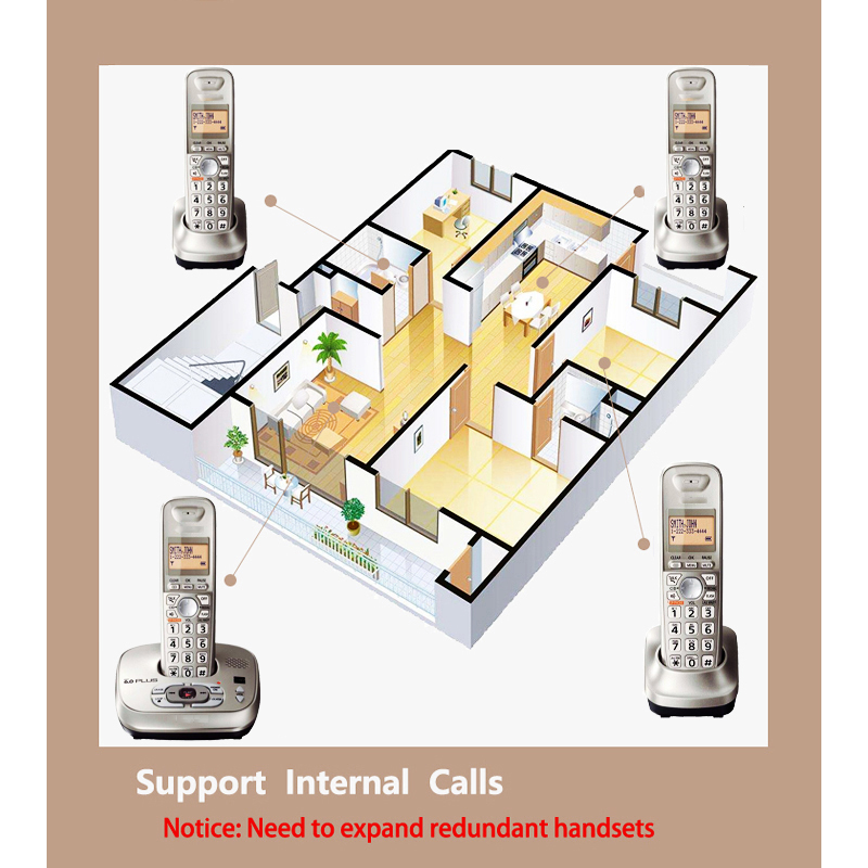 Cordless Telefon telefono inalambrico de casa Mit Handfree Voice Mail Backlit LCD telefone sem fio