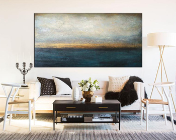 Large Abstract Oil Painting Blue Painting Sunset Painting Abstract Painting On Canvas Art Painting Oil Painting Abstract Art фото