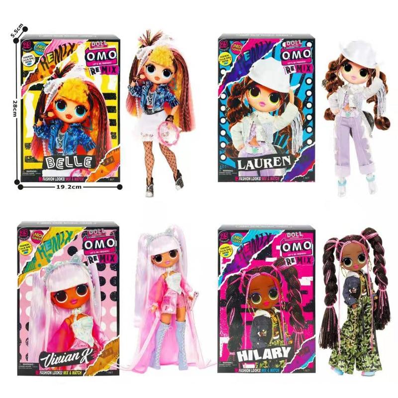Nouveau LOL Surprise poupée OMG Remix mode soeur Pop B.B. Remix Lonestar boîte cadeau de noël boîte aveugle jouets cadeau danniversaire enfant