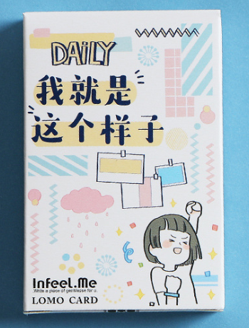 52mm*80mm Daily Life Paper Greeting Card Lomo Card(1pack=28pieces)