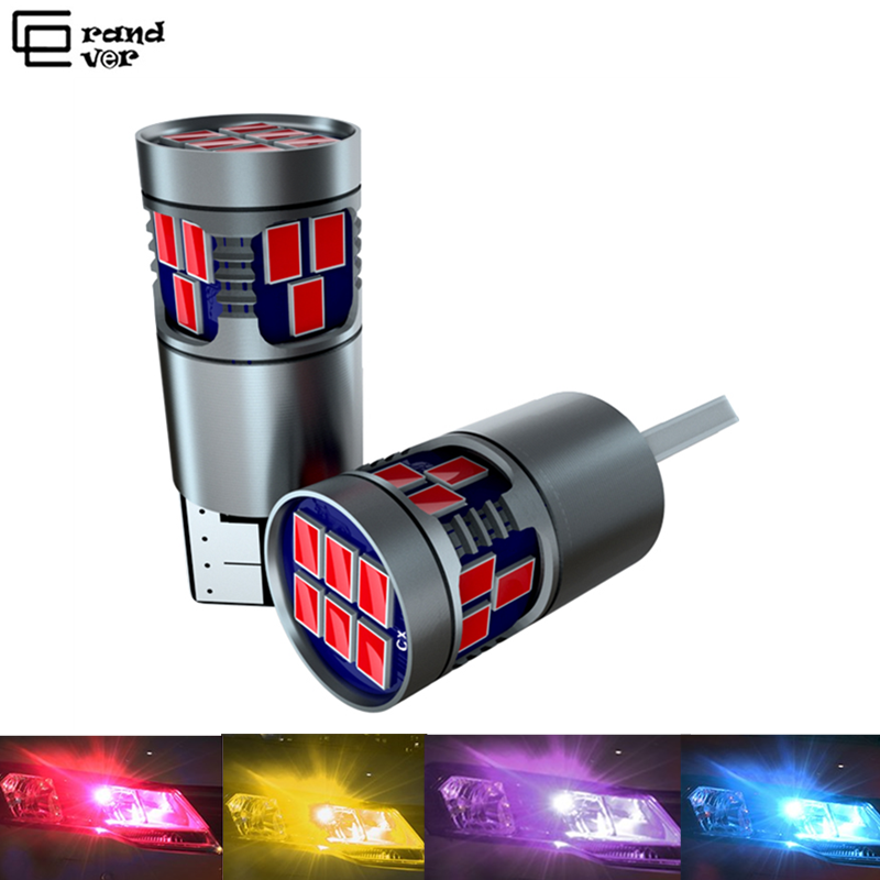 1PCS T10 <font><b>LED</b></font> <font><b>W5W</b></font> 194 <font><b>Bulb</b></font> Turn Singal Light 18SMD Car Accessories Reading Lamp License Plate Lights Width lamp for Auto <font><b>12V</b></font> image