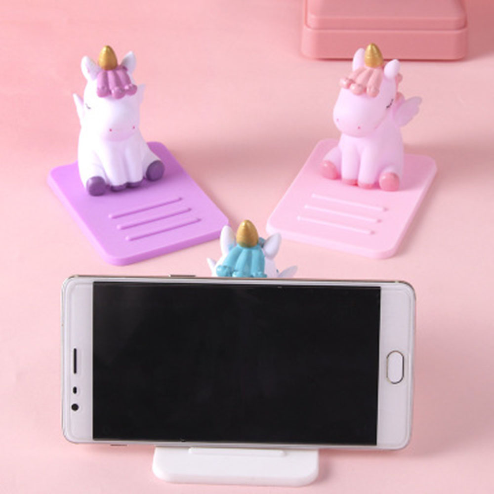 Cute Anti Slip Unicorn Phone Stand Mobile Phone Holder Support Desk Decor Phone Bracket for IPhone for XiaoMi for huawei in Phone Holders Stands from Cellphones Telecommunications