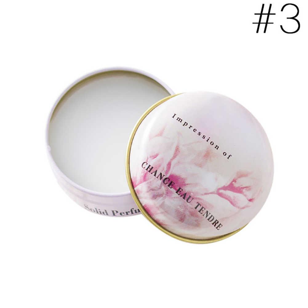 Longue durée solide parfum pour hommes femmes Floral Portable boîte ronde solide parfum baume corps parfum soins de la peau huile essentielle