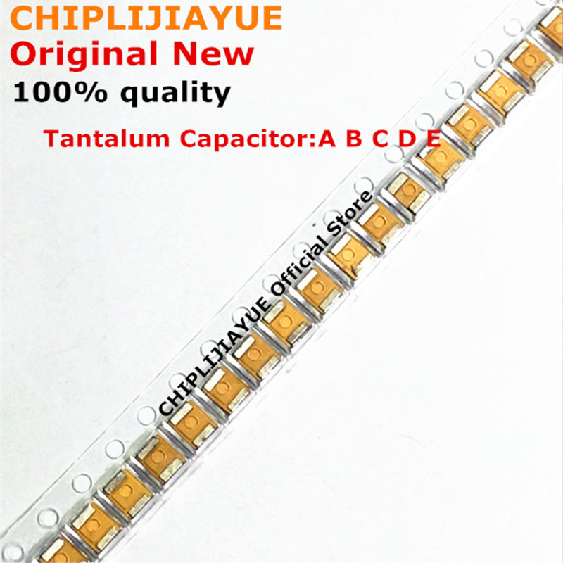 Танталовый конденсатор, 10 шт., тип B 227 476 107 475 106 105 226 4 в 6,3 В 16 В 25 в 35 в 50 в 1 мкФ 220 мкФ 4,7 мкФ 10 мкФ 47 мкФ Ф 100 мкФ B3528 1210