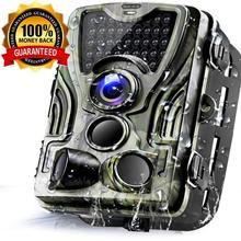 940nm Trail Camera-Waterproof 16MP 1080P Game Hunting Scouting Cam with 3 Infrared Sensors for Wildlife Monitoring  Night Vision
